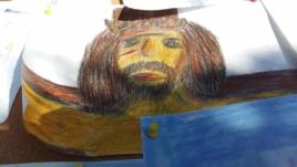 Krisztusarc, Ati fiúnk rajza 13 évesen