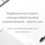 A blogkép kereső csoport borítóképe